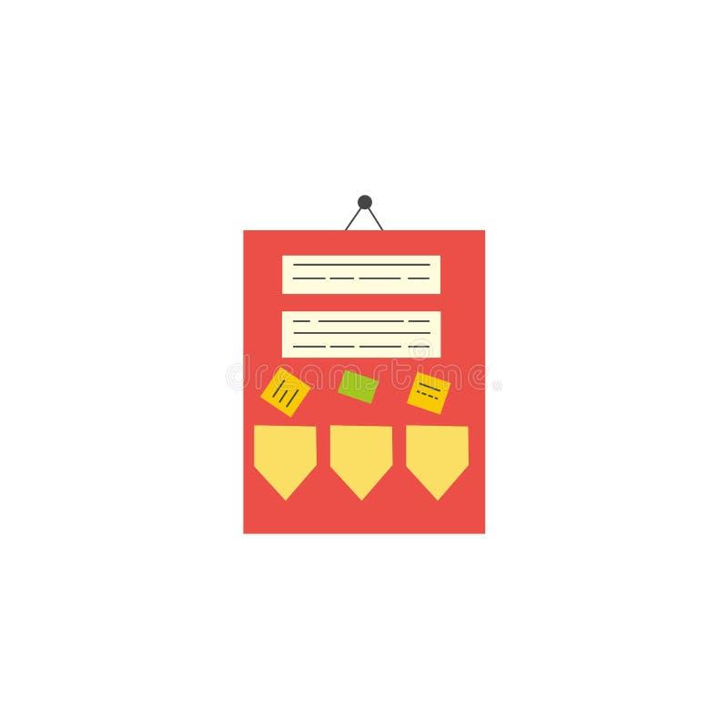 Icône plate de conseil d'annonce de salle de classe de style illustration libre de droits