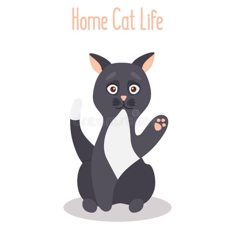 Icône plate de couleur de chat de demandeur illustration libre de droits