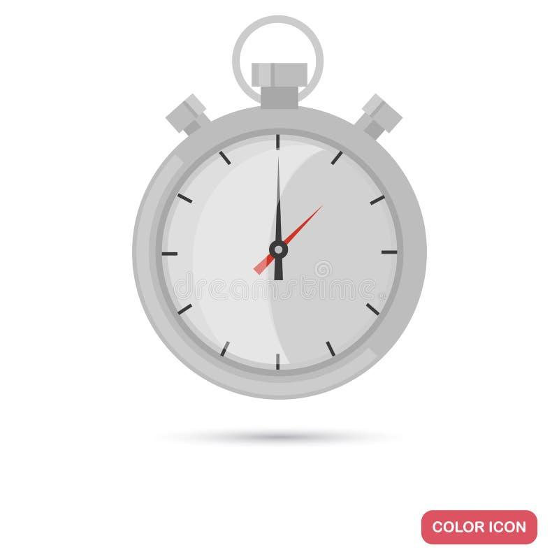 Icône plate de couleur de chronomètre de sport illustration libre de droits