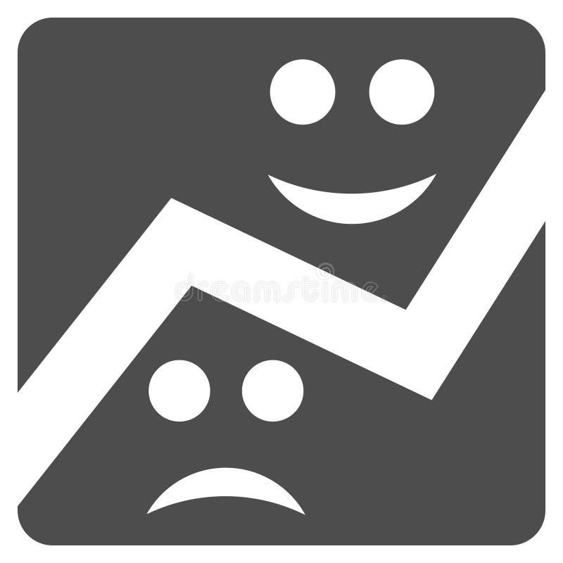 Icône plate de diagramme d'émotion illustration stock