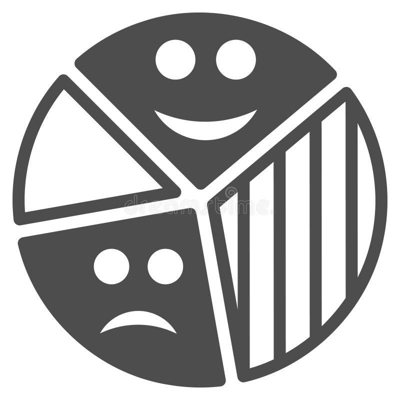 Icône plate de diagramme de tarte d'émotion illustration de vecteur