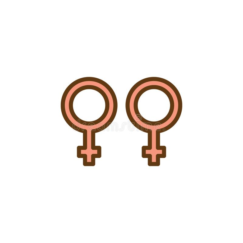 Icône plate de genre homosexuel illustration stock