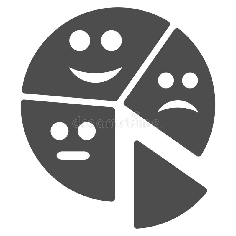 Icône plate de graphique circulaire d'émotion illustration de vecteur