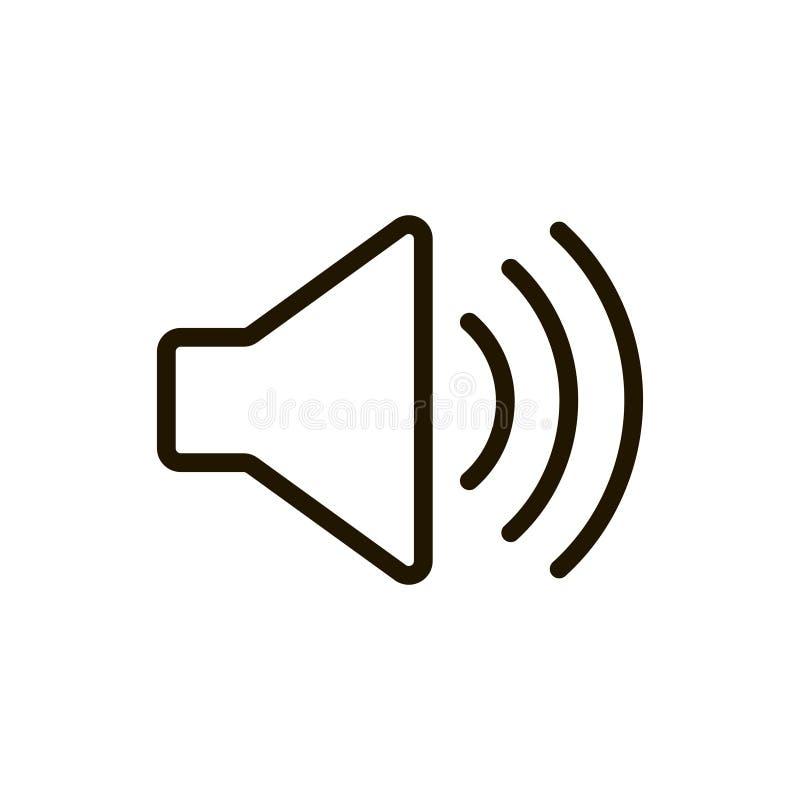 Icône plate de haut-parleur illustration stock