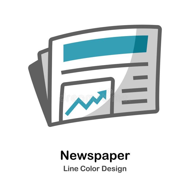 Icône plate de journal illustration de vecteur