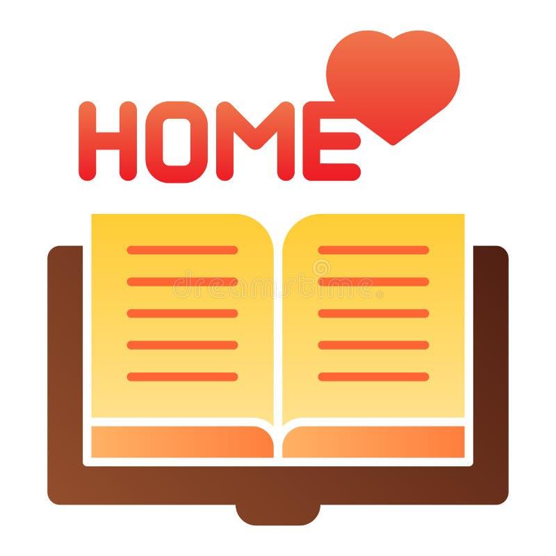 Icône plate de lecture à la maison Icônes à la maison de couleur de livre dans le style plat à la mode Conception préférée de sty illustration stock