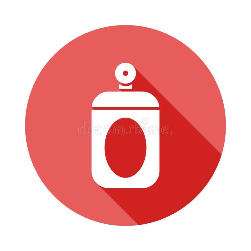 icône plate de longue ombre de parfum d'ambiance Élément d'icône de coiffeur pour les apps mobiles de concept et de Web La longue illustration libre de droits