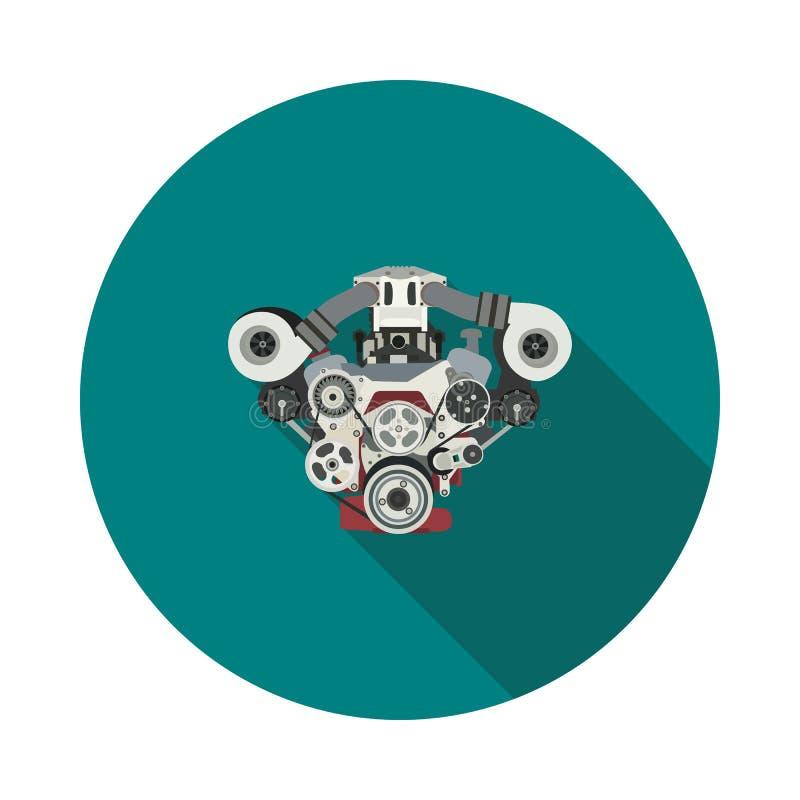 Icône plate de moteur à combustion interne illustration libre de droits