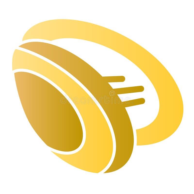 Icône plate de moule Icônes de couleur de Shell dans le style plat à la mode Conception de style de gradient de fruits de mer, co illustration stock