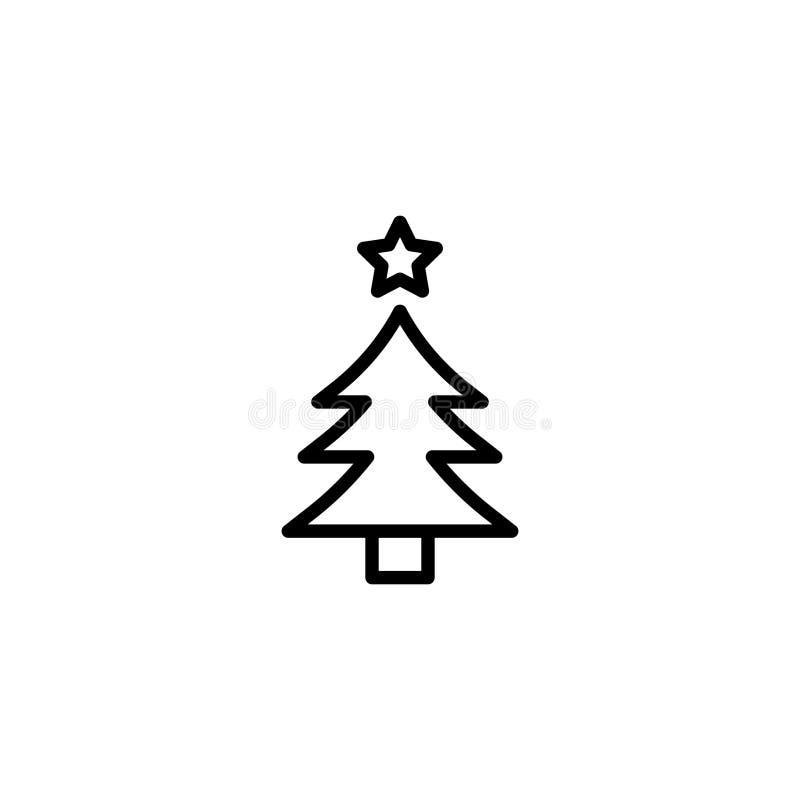 Icône plate de Noël illustration stock