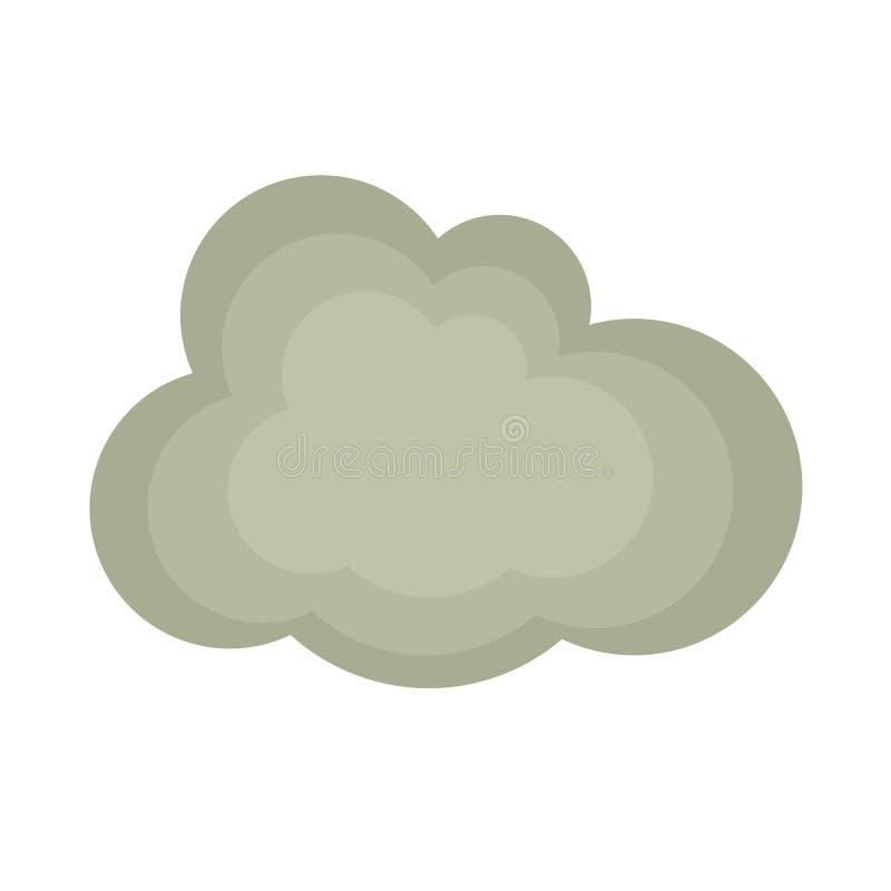 Icône plate de nuage gris illustration libre de droits