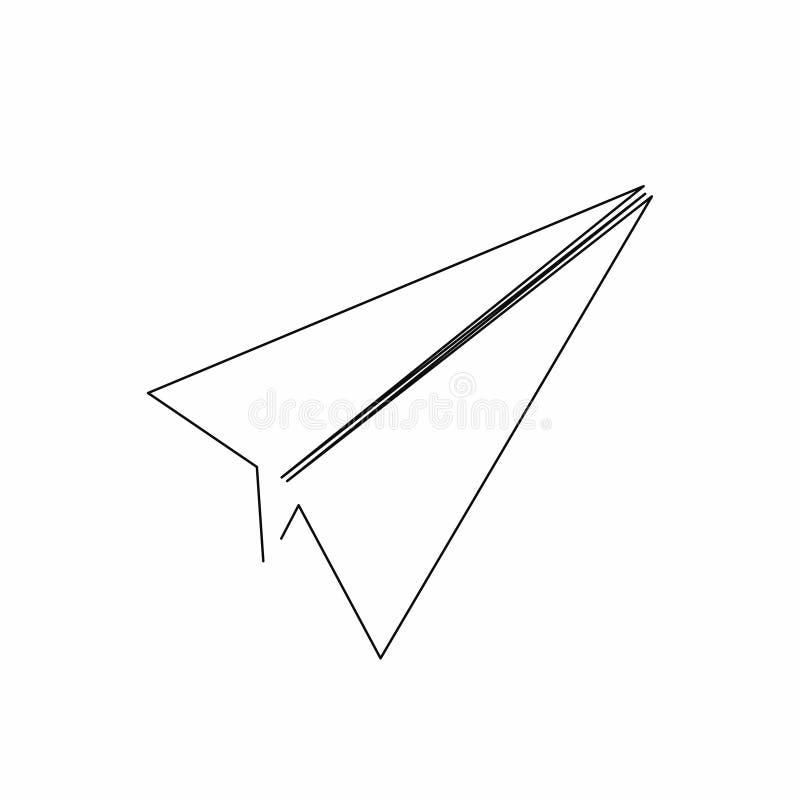 Icône plate de papier dans style de schéma Icône plate d'isolement sur le fond illustration de vecteur