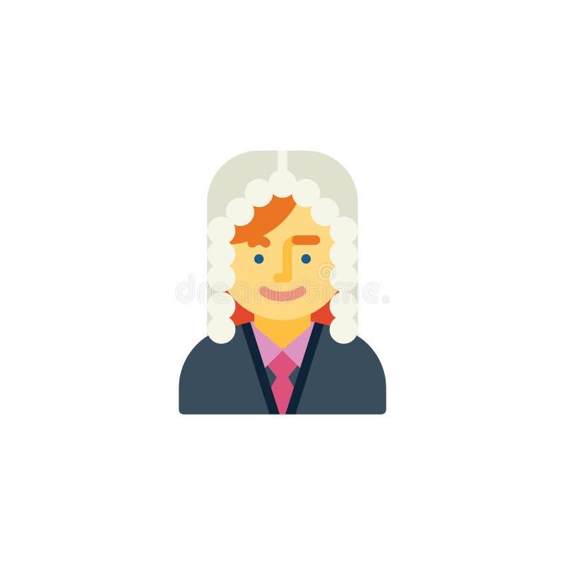 Icône plate de personne de femme de juge illustration libre de droits