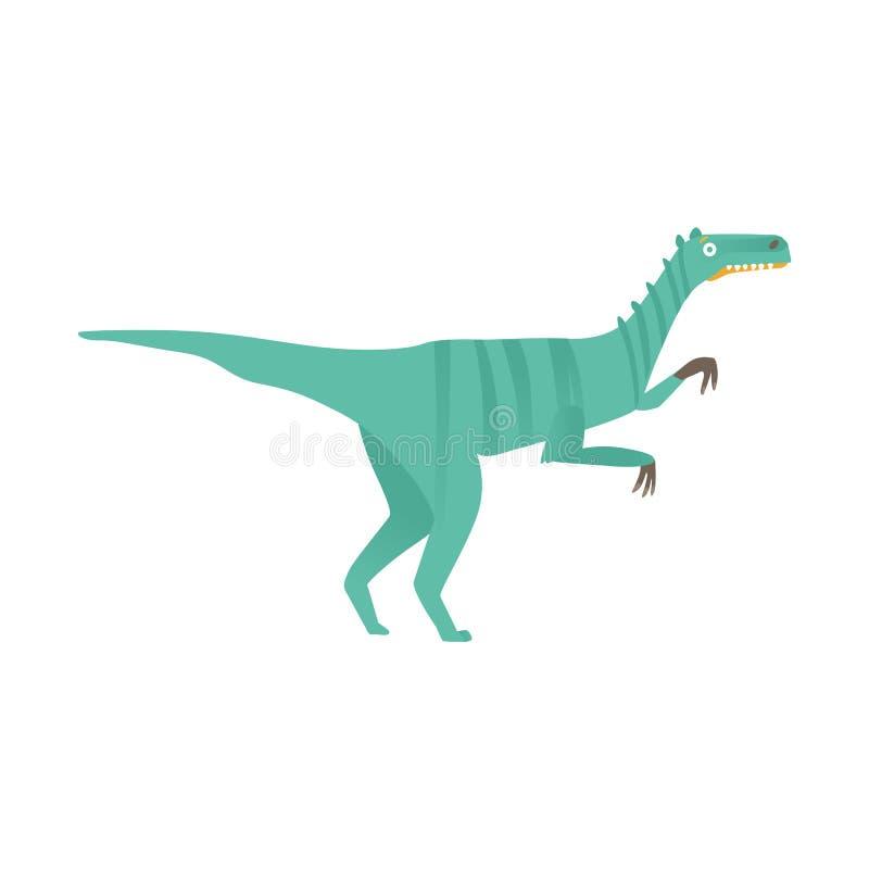 Icône plate a de prédateur de dinosaure de velociraptor de vecteur illustration libre de droits