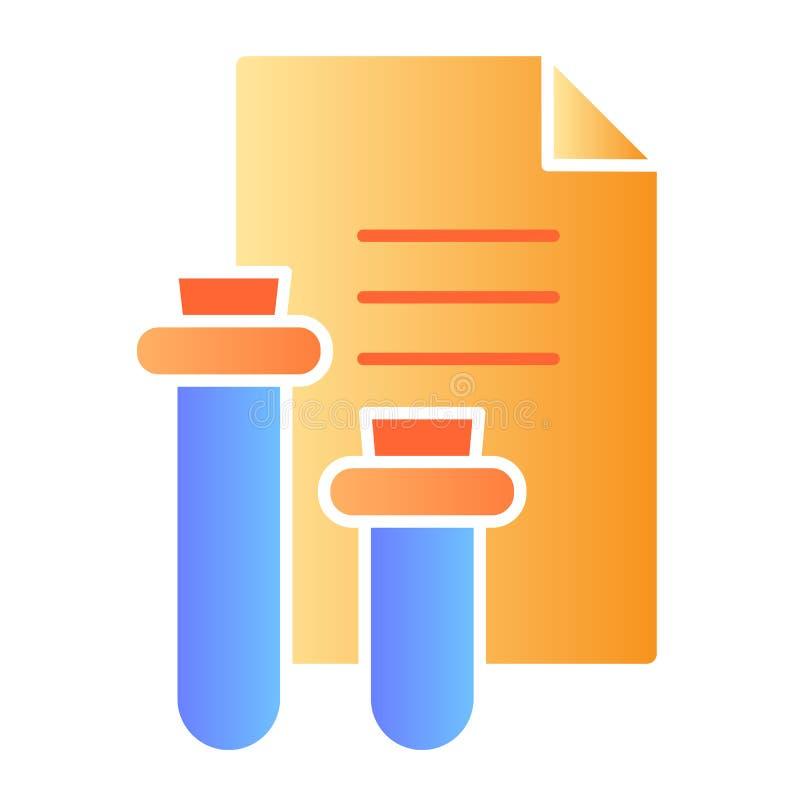 Icône plate de rapport médical Icônes de couleur de résultat d'analyse de sang dans le style plat à la mode Conception de style d illustration libre de droits