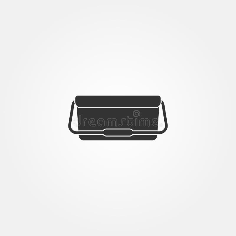 Icône plate de refroidisseur de nourriture de vecteur courant illustration libre de droits