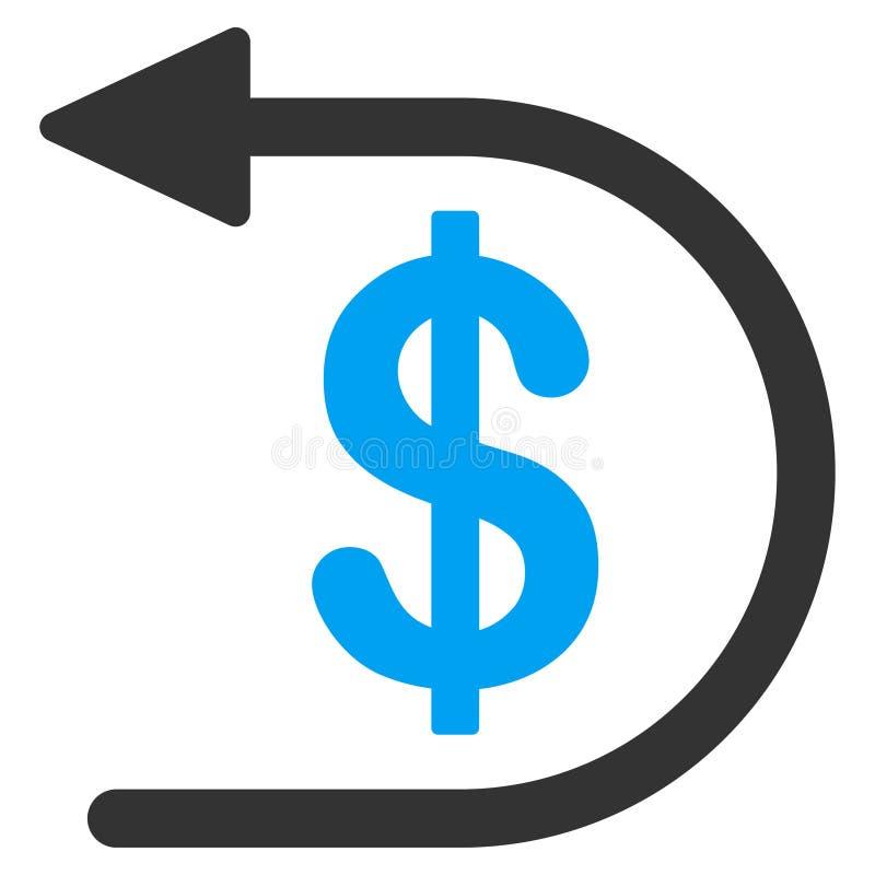 Icône plate de remboursement illustration stock