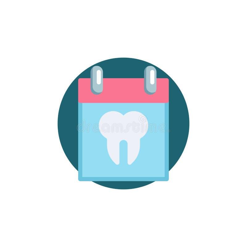 Icône plate de rendez-vous dentaire illustration libre de droits