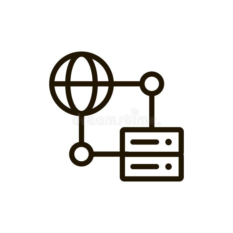 Icône plate de serveur illustration stock