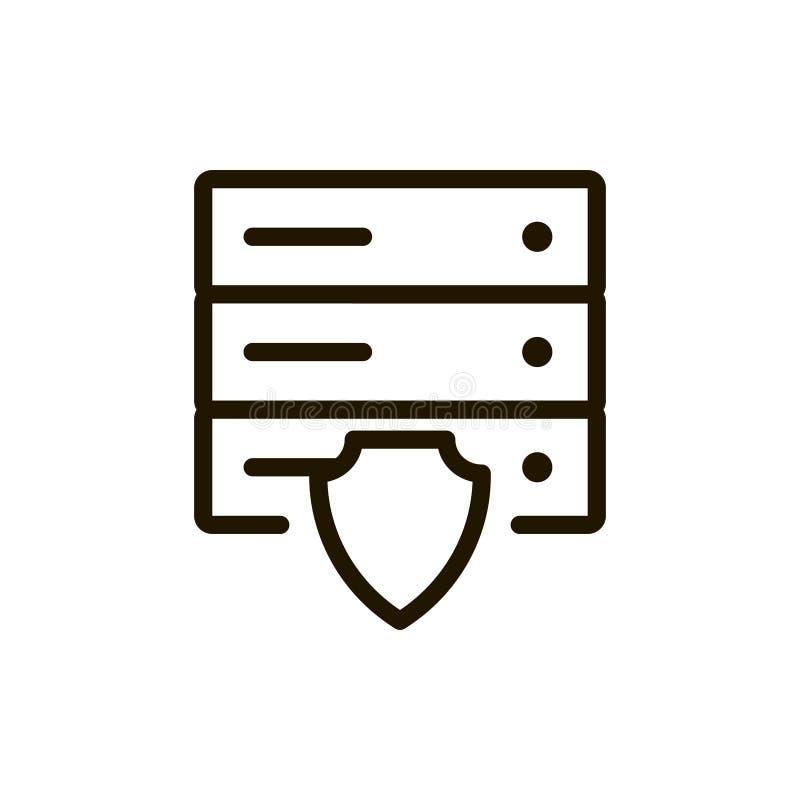 Icône plate de serveur illustration libre de droits