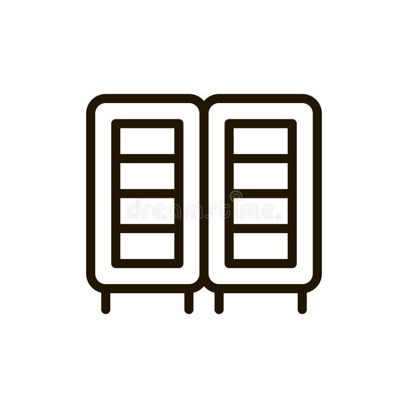 Icône plate de serveur illustration de vecteur