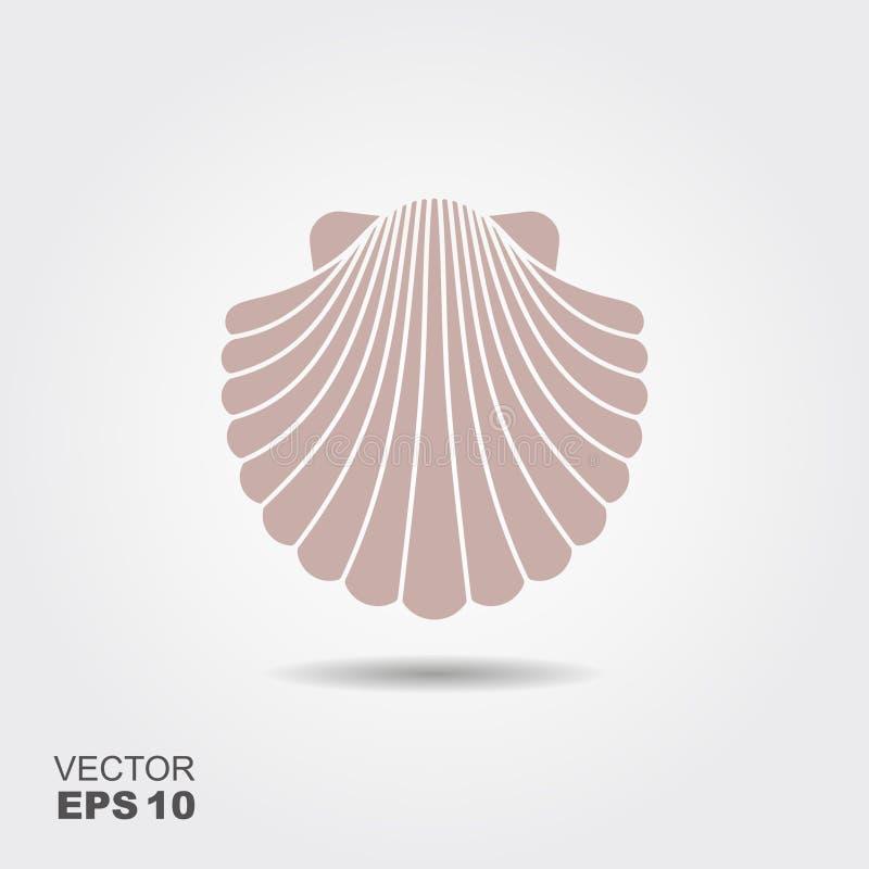 Icône plate de Shell illustration de vecteur