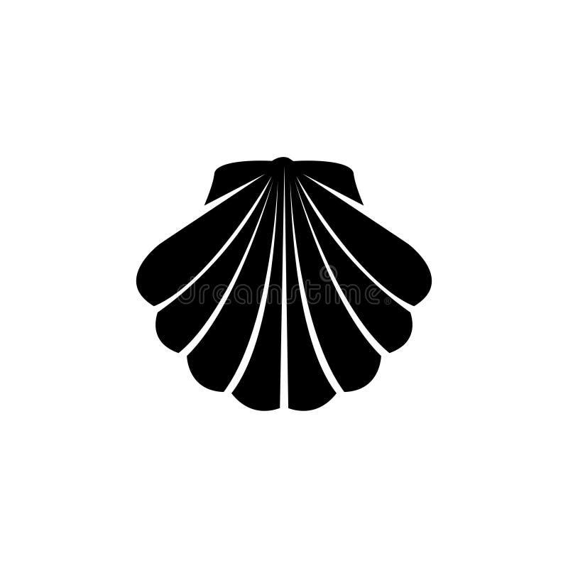 Icône plate de Shell illustration libre de droits