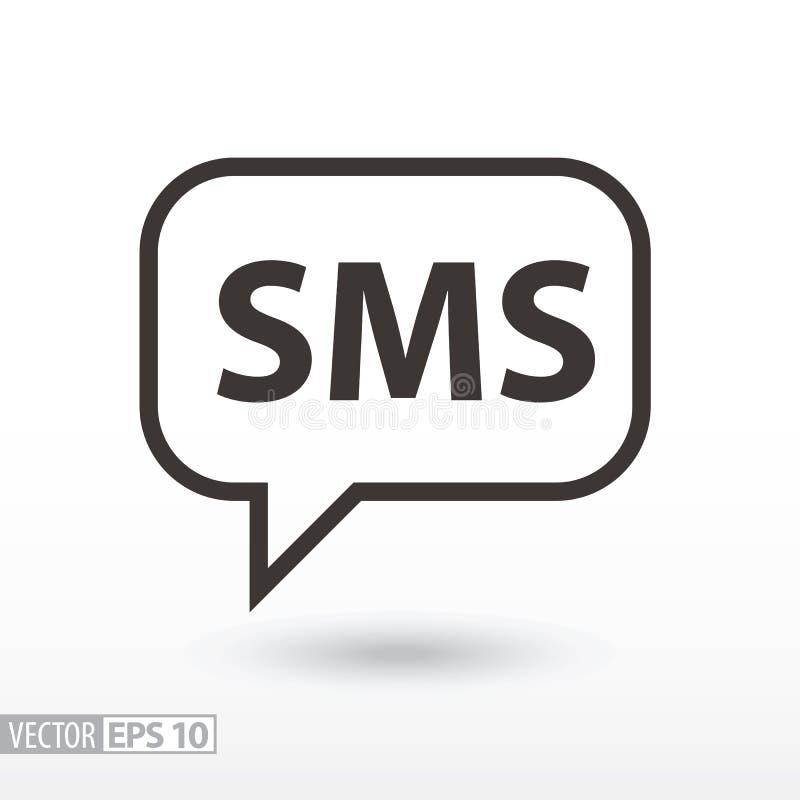 Icône plate de SMS E illustration de vecteur