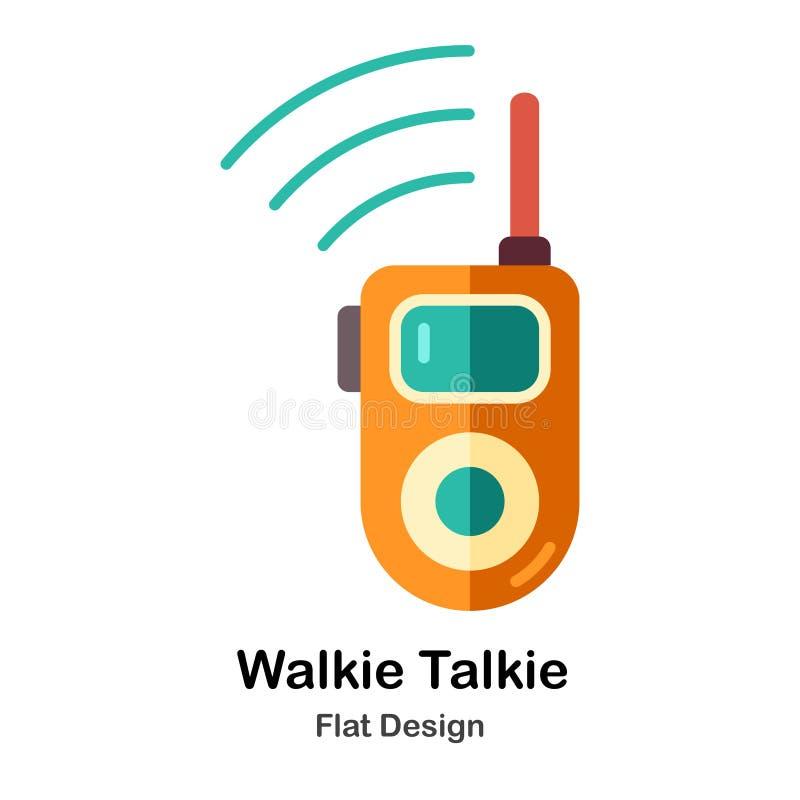Icône plate de talkie-walkie illustration de vecteur