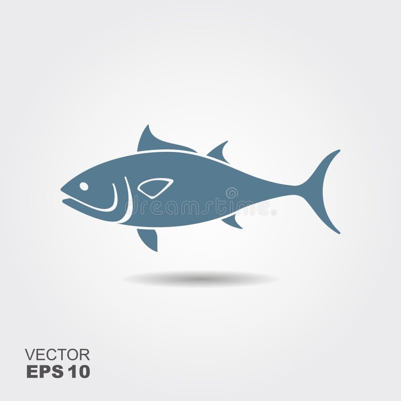 Icône plate de Tuna Fish illustration de vecteur