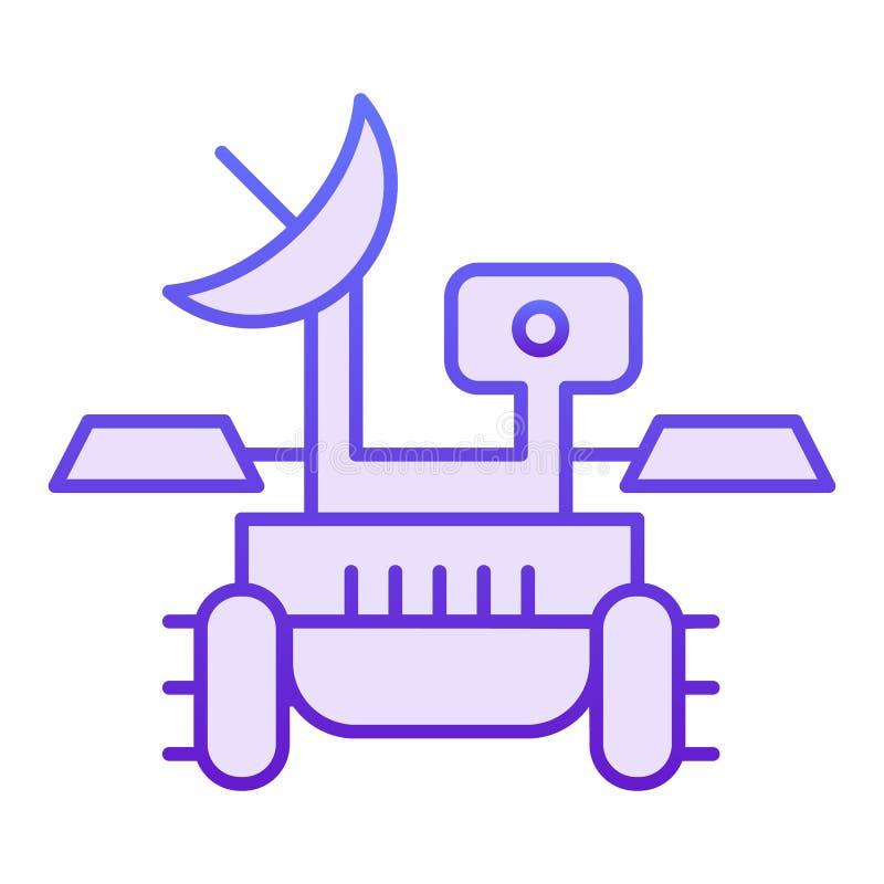 Icône plate de vagabond de Mars Icônes violettes de voyageur de module de recherches dans le style plat à la mode Conception de s illustration libre de droits