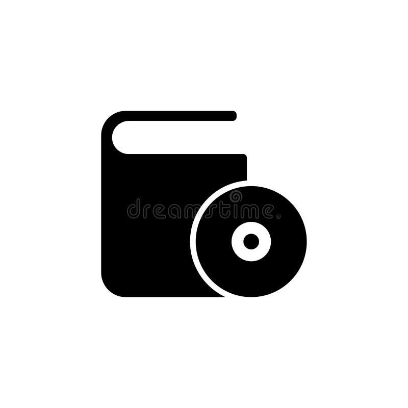 Icône plate de vecteur de boîte CD de DVD illustration libre de droits