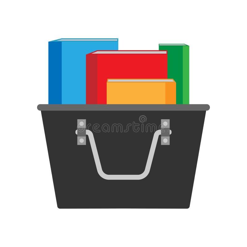 Icône plate de vecteur de conception de reliure de support de dossier Écritures stationnaires de données de feuille d'archives illustration stock