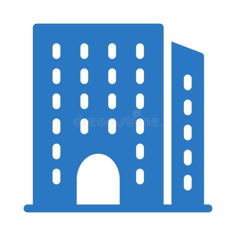 Icône plate de vecteur de couleur de glyph d'immobiliers illustration stock