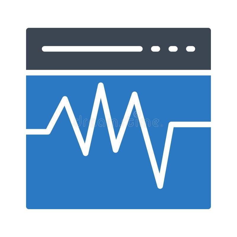 Icône plate de vecteur de couleur de glyph de Web de battements illustration stock