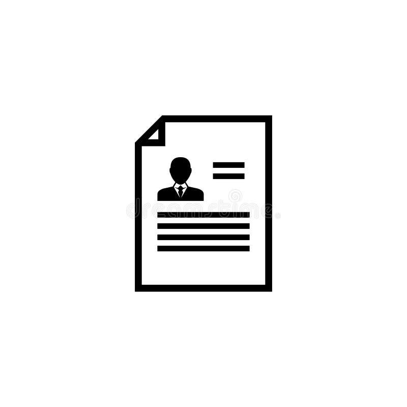 Icône plate de vecteur de cv de résumé illustration libre de droits