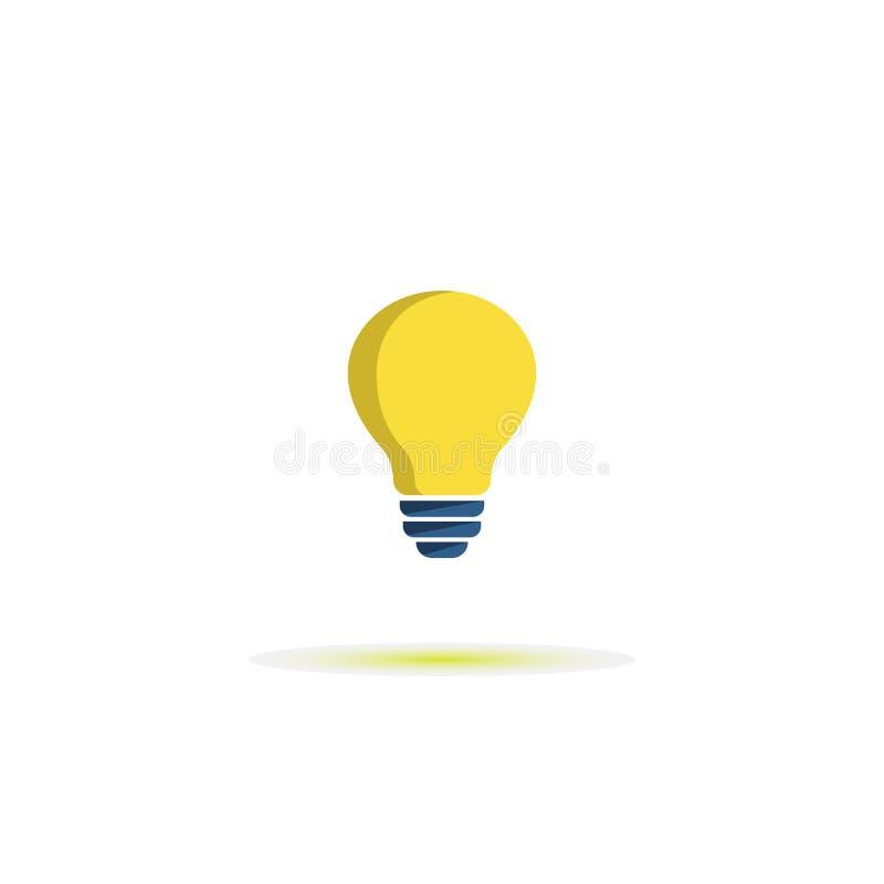 Icône plate de vecteur d'ampoule Signe de lampe Id?e de concept Symbole de couleur de vecteur illustration stock