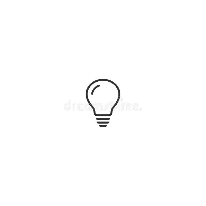 Icône plate de vecteur d'ampoule Signe de lampe Id?e de concept Symbole d'ensemble de vecteur illustration de vecteur