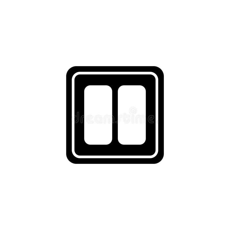 Icône plate de vecteur d'interrupteur de lampe électrique illustration stock