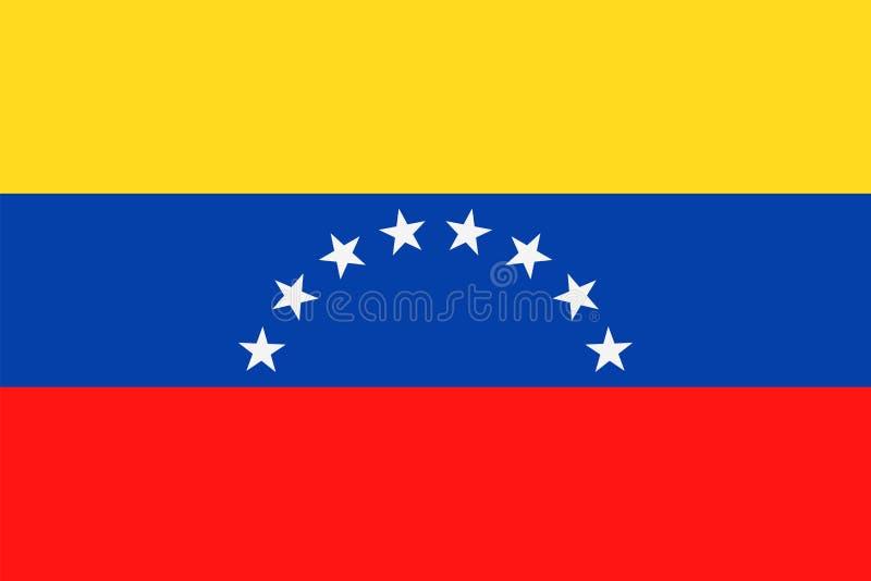 Icône plate de vecteur de drapeau du Venezuela illustration de vecteur