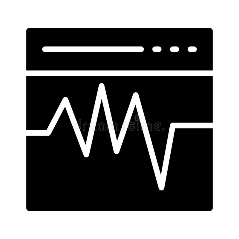 Icône plate de vecteur de glyph de battements illustration libre de droits