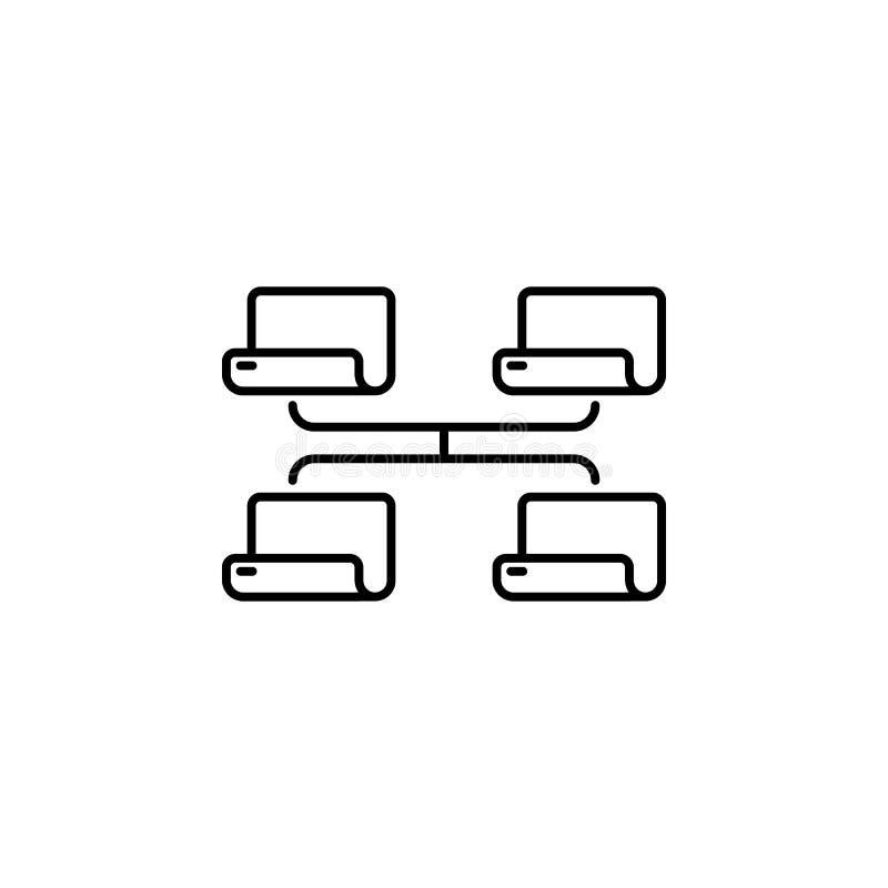 icône plate de vecteur - illustration de l'icône de connexion de dossier de document d'isolement sur le blanc illustration libre de droits