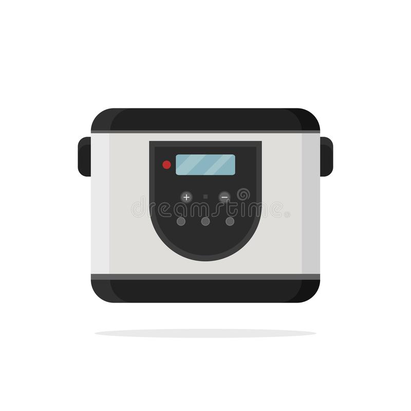 Icône plate de vecteur de multi-cuiseur électrique illustration libre de droits