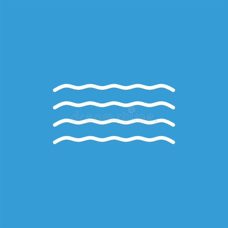 Icône plate de vecteur de vagues Icône plate de vecteur de l'eau photographie stock