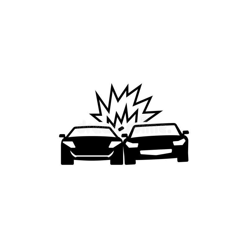 Icône plate de vecteur de voitures de collision illustration libre de droits