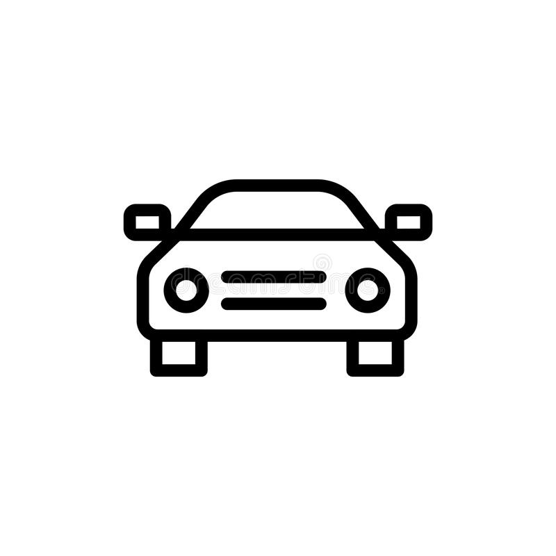 Icône plate de voiture illustration libre de droits