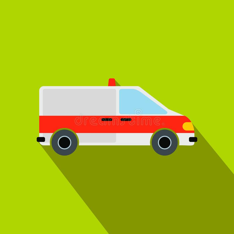 Icône plate de voiture d'ambulance illustration de vecteur