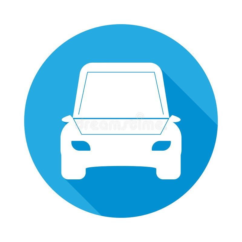 icône plate de voiture ouverte de capot avec la longue ombre Élément d'illustration de services des réparations de voiture Icône  illustration libre de droits