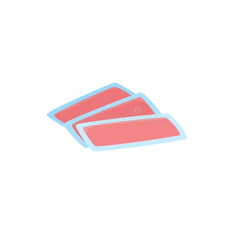Icône plate des bandes de cire, outil d'épilation illustration de vecteur