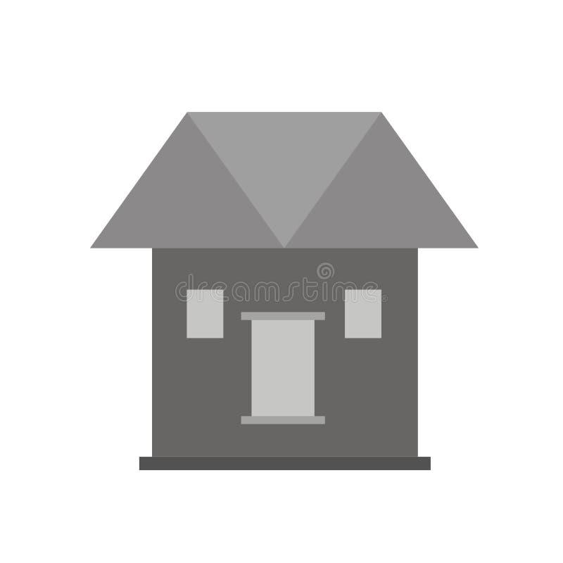 Icône plate ENV de vecteur à la maison image stock